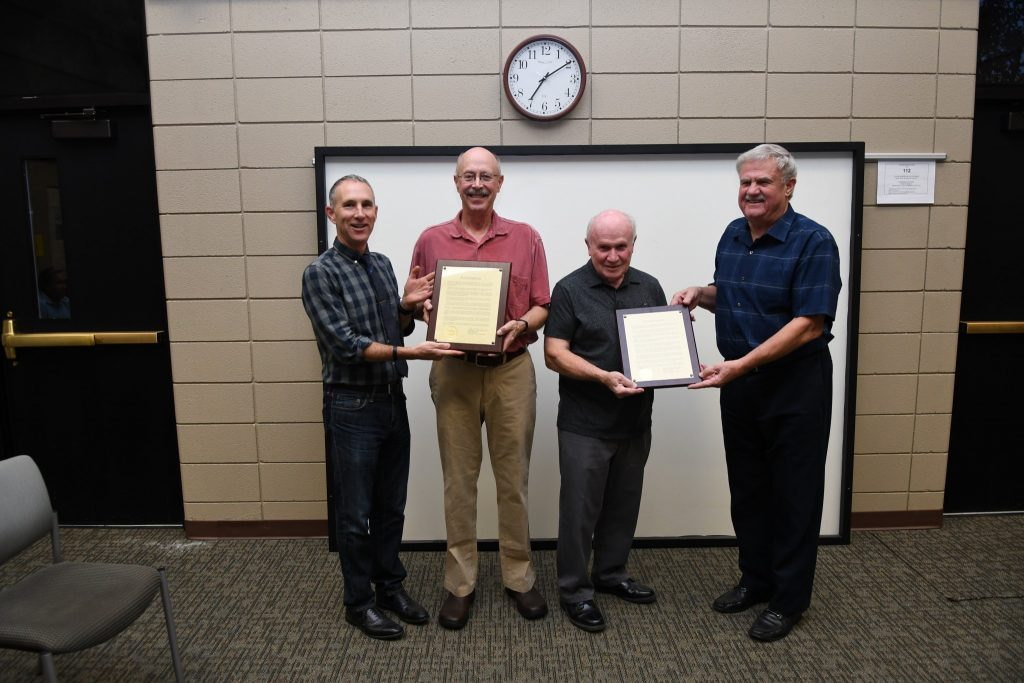 Jim and Ed recognized for their service to South Haven