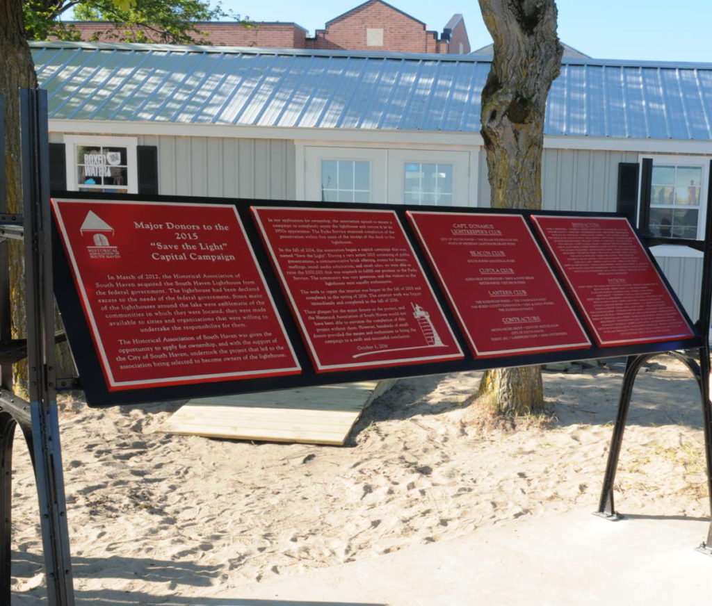 Plaque Recognizing Major Donors Installed
